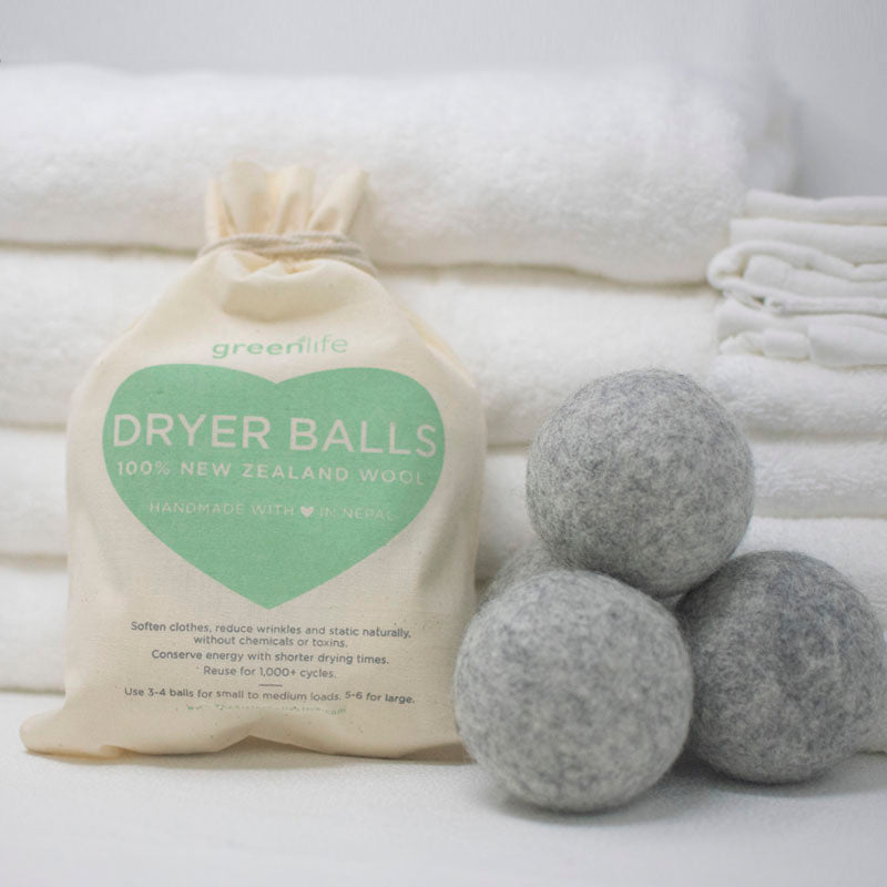 grey dryer balls for dark clothes