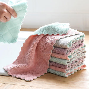 Microfiber Reusable Kitchen Towels for Cleaning