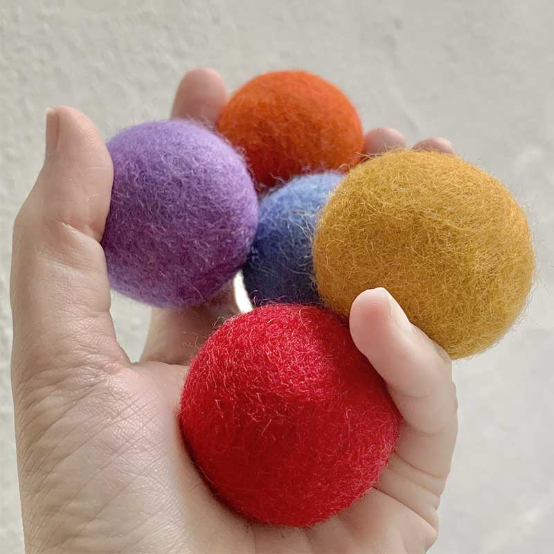 Natural Wool Cat Toys