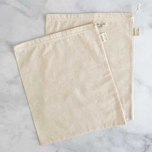 Organic Cotton Muslin Reusable Produce Bags (Set of 2)