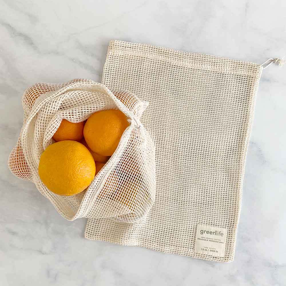 organic cotton produce bags large set of 2