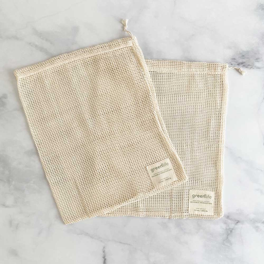 organic cotton produce bags medium set of 2