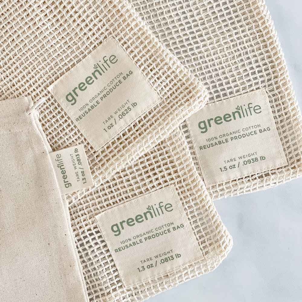 greenlife produce bags with tare weight