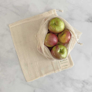 Organic Cotton Reusable Produce Bags (Set of 2)