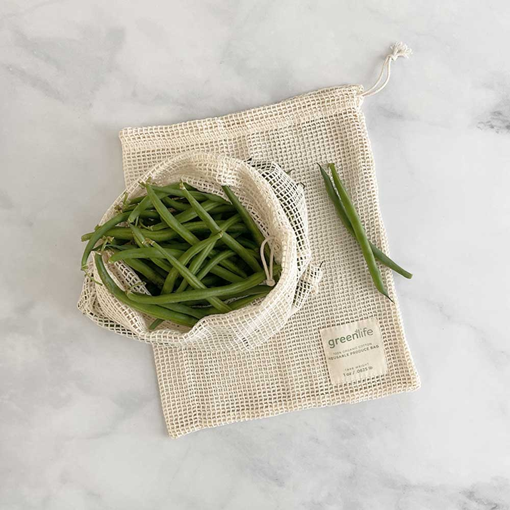 reusable produce bags small set of 2