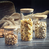 Glass Storage Jars with Bamboo Lid