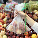 reusable produce bag mesh medium with fruit