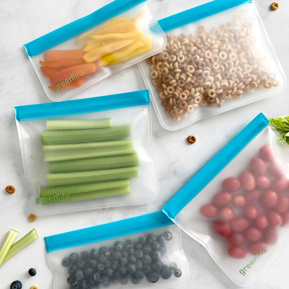 Essentials Bundle of Reusable Food Storage Bags (Set of 8)