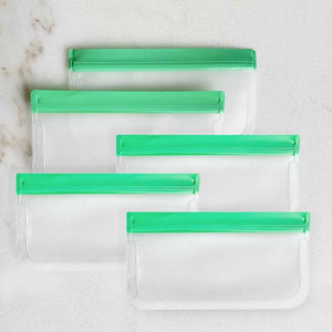 Reusable Snack Bags - Green (Set of 5)