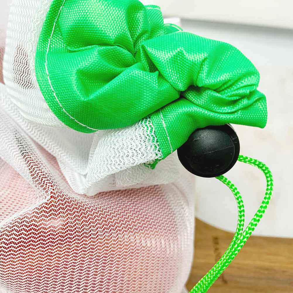 Reusable produce bags with drawstring