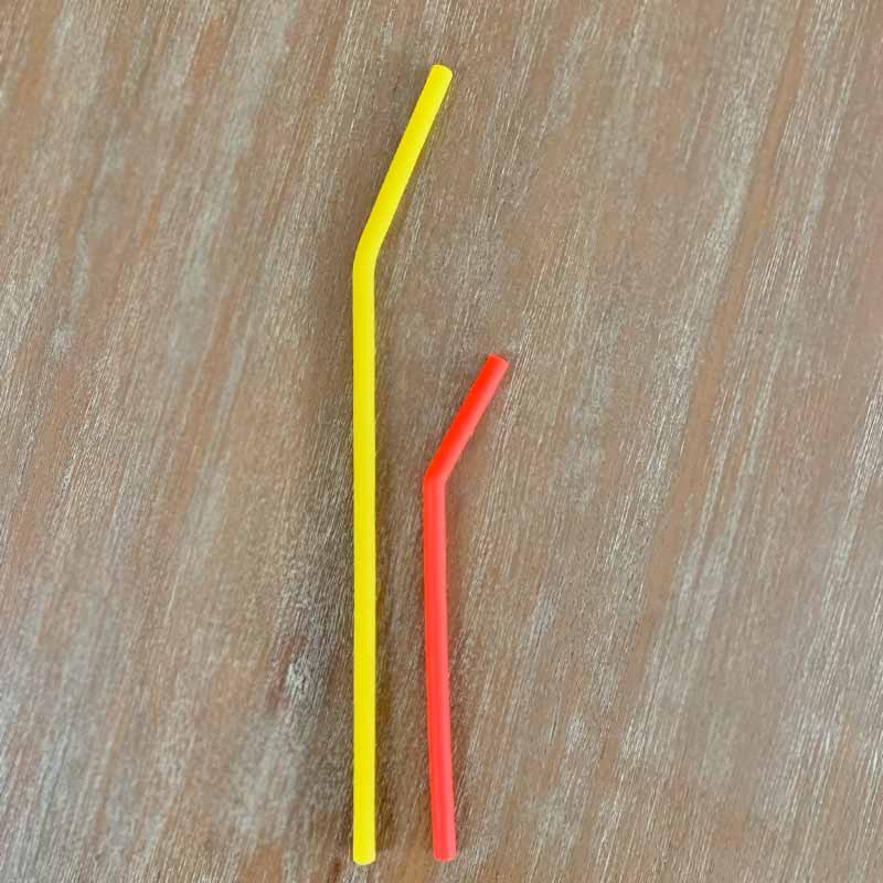 silicone straws compare sizes