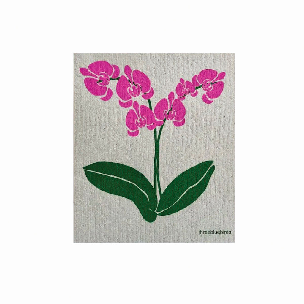 orchid swedish dishcloth