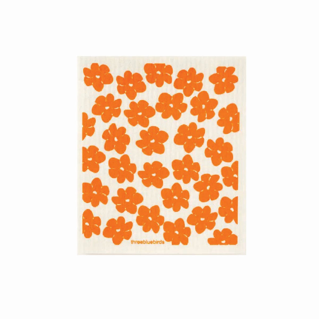 Orange swedish dishcloth