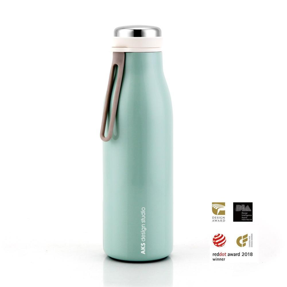 Teal Insulated Water Bottle by AKS Design Studio