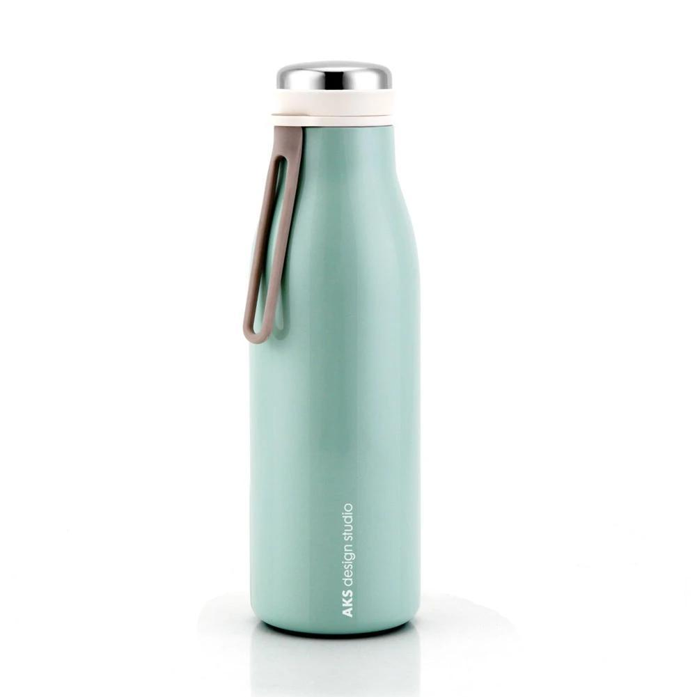 insulated water bottle teal cute