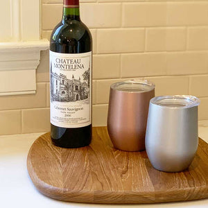 wine tumbler metallic