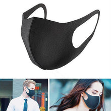 Load image into Gallery viewer, Black Mouth Breathable Face Mask
