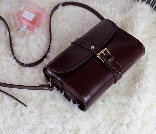 Two-layer Leather Vintage Crossover Bag