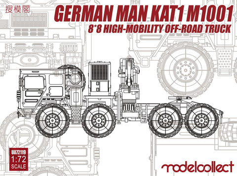ModelCollect 1/72 German MAN KAT1 M1001 8x8 High-Mobility Off-Road Truck Kit