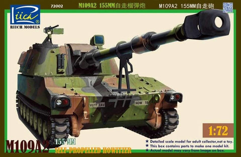 Riich Military 1/72 M109A2 155mm Self-Propelled Howitzer (New Tool) Kit