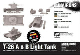 Minairons Miniatures 1/100 Spanish Civil War:  T26A/B Light Tank (5) Plastic Kit