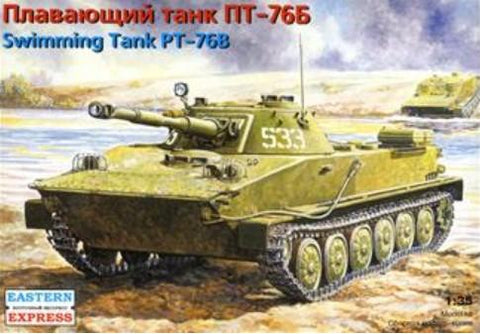 Eastern Express Military 1/35 PT76B Russian Amphibious Light Tank Kit