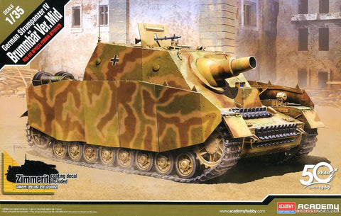 Academy 1/35 German Sturmpanzer IV Brummbar Mid Version Tank (New Tool) Kit