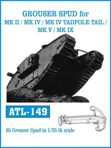 Friulmodel Military 1/35 Grouser Spud for Mk II/IV, MK IV Tadpole Tail, Mk V/IX Track Set (65 Links)