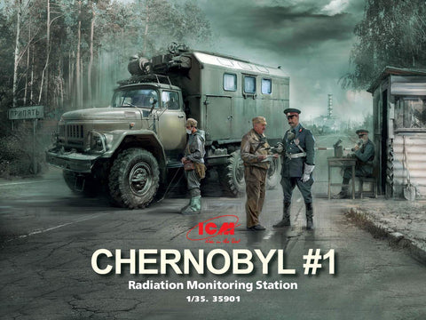 ICM Military Models 1/35 Chernobyl #2: Fire Fighter Diorama Set