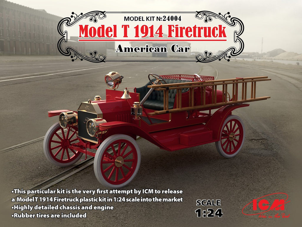 ICM 1/24 American Model T 1914 Fire Truck (New Tool) Kit