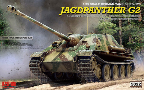 Rye Field 1/35 Jagdpanther G2 w/Full Interior & Workable Track Links Kit