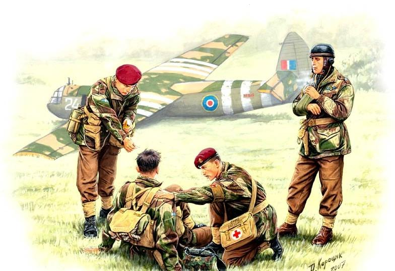Master Box Ltd 1/35 WWII British Paratroopers Rigid Landing Operation Market Garden (4) Kit