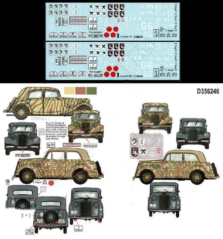 Echelon Decals 1/35 WWII German Early War AFV Markings