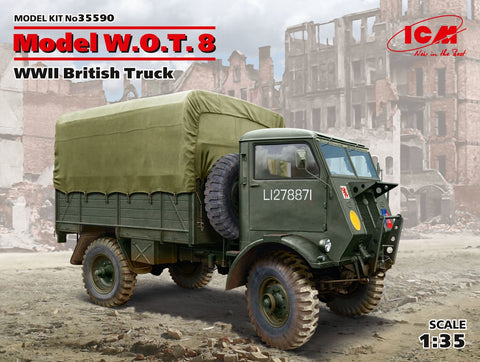 ICM Military Models 1/35 WWII British Model WOT 8 Truck Kit