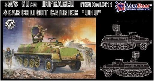 Lion Roar Military 1/35 sWS 60cm Infrared Searchlight Carrier UHU Kit