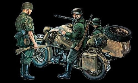 Italeri Military 1/35 BMW Motorcycle w/Sidecar Kit