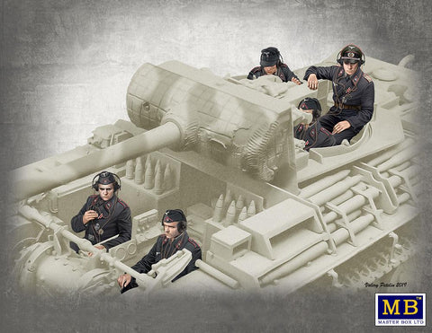 Master Box Ltd 1/35 German Tank Crew Figures 1944-1945 (5 Tankers) Kit