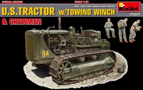 MiniArt Military Models 1/35 US Army Tractor w/Towing Winch & 3/Crew Kit