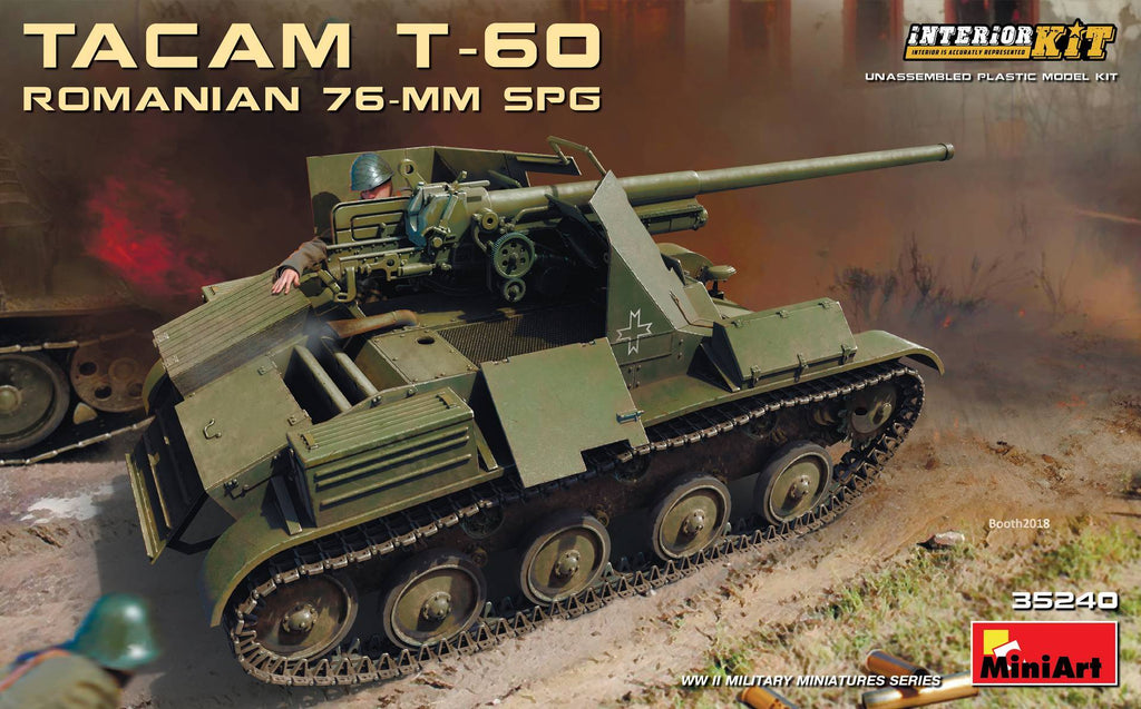MiniArt Military Models 1/35 WWII Romanian Tacam T60 76mm SPG Tank w/Full  Interior Kit