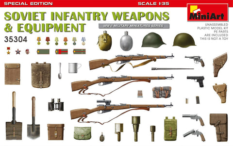 MiniArt Military 1/35 WWII Soviet Infantry Weapons & Equipment (Special Edition) Kit
