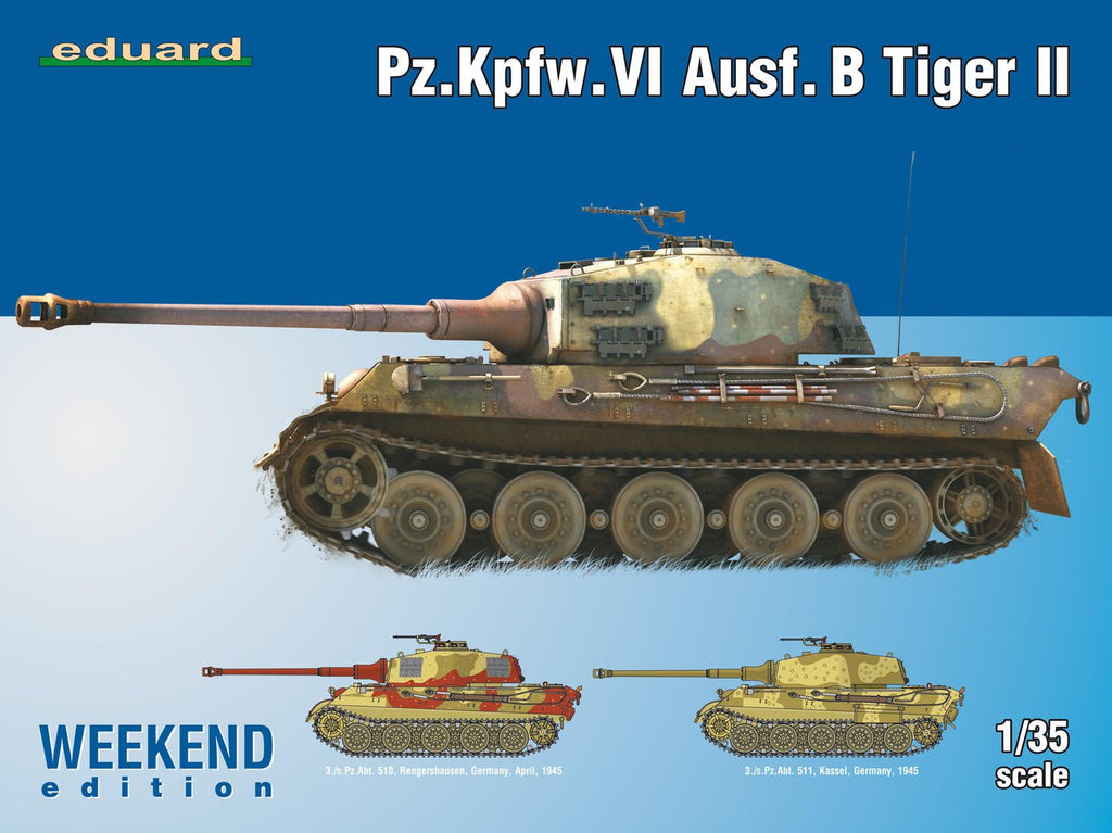 Eduard Military 1/35 PzKpfw VI Ausf B Tiger II Tank Weekend Edition Kit