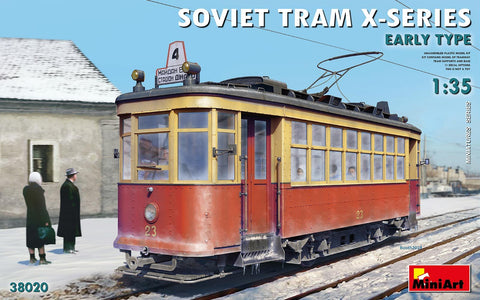 MiniArt Military 1/35 Soviet X-Series Early Type Tramcar (New Tool) Kit