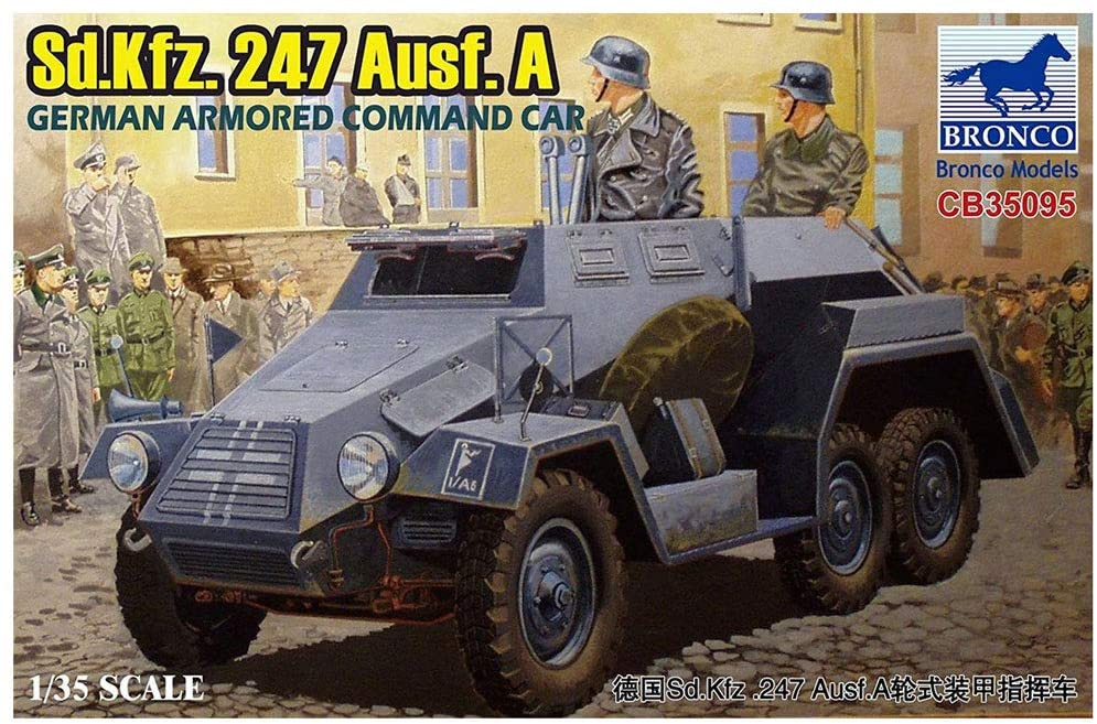 Bronco Military 1/35 German SdKfz 247 Ausf A Armored Command Car Kit