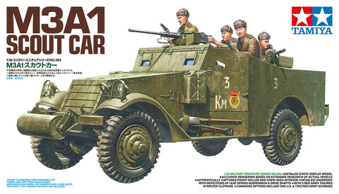 Tamiya Military 1/35 M3A1 Scout Car (New Tool) Kit