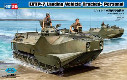 Hobby Boss Military 1/35 LVTP-7 Landing Vehicle Tracked- Personal Kit