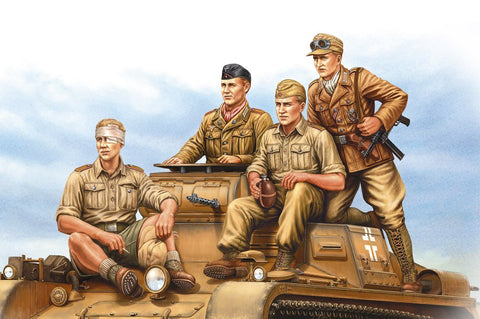 Hobby Boss Military 1/35 German Tropical Panzer Crew Kit