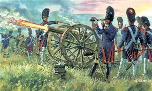 Italeri Military 1/72 Napoleonic War: French Imperial Guard Artillery (16 w/2 Guns) Set