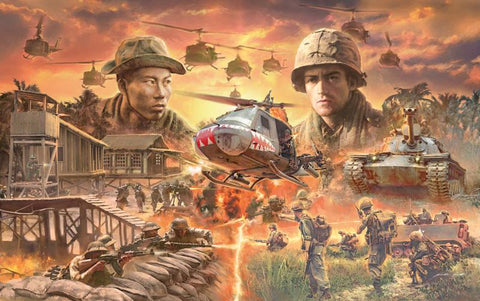 Italeri Military 1/72 Vietnam War Diorama Set