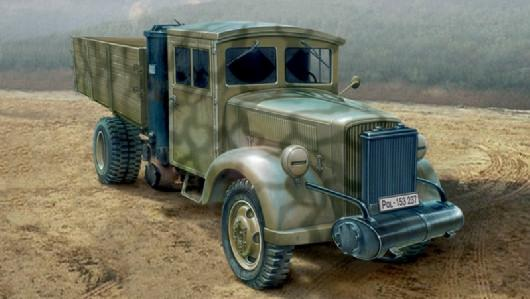 Italeri Military 1/35 Medium 3-Ton Coal Engine Truck Kit
