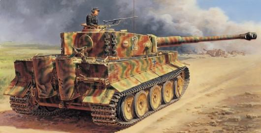 Italeri Military 1/35 WWII German PzKpfw VI Tiger I Ausf E Tank Kit